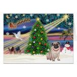 Christmas Magic Pug (fawn) Card