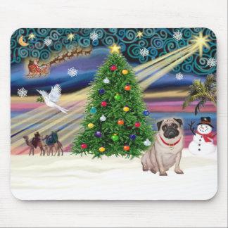 Christmas Magic Pug (fawn) Mouse Pad