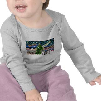 Christmas Magic Schnauzers (two) Tee Shirts