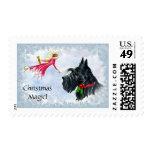 Christmas Magic Scottie Postage Stamp
