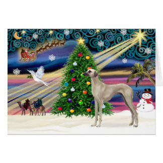 Christmas Magic Sloughi (stand) Greeting Card