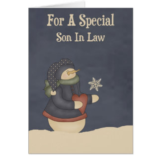 Christmas Magic Snowflake Son In Law Card