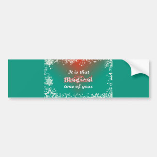 Christmas Magic: Stars for the Holiday Christmas Car Bumper Sticker