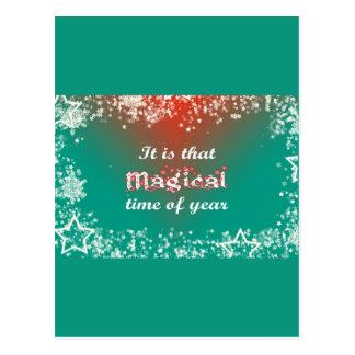 Christmas Magic: Stars for the Holiday Christmas Postcard