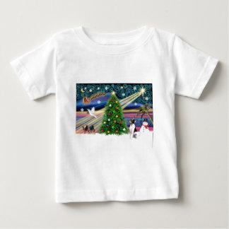 Christmas Magic Toy Fox Terrier Baby T-Shirt