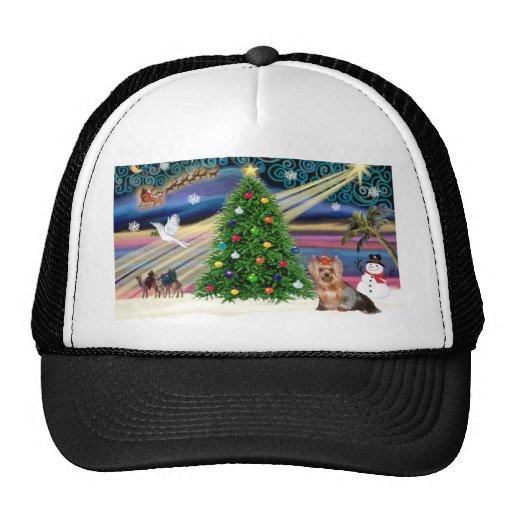 Christmas Magic - Yorkshire Terrier 6 Trucker Hat