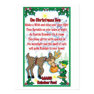 Christmas Magical Reindeer Food Postcard