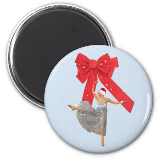 Christmas Magnet with Ballerina