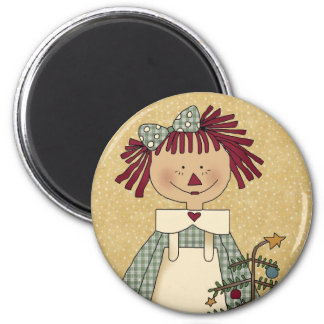 Christmas Magnets: Simple Joys Annie 2 Inch Round Magnet