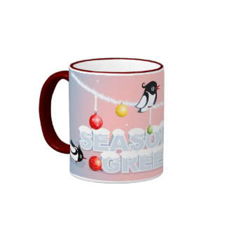 Christmas - Magpies Bubbles Snow Ringer Coffee Mug