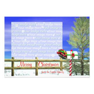 Christmas Mail photo frame Invitations
