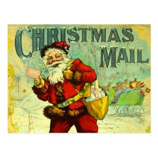 Christmas Mail Santa Claus Vintage Gift Card Art