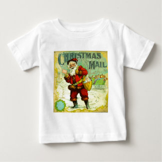 Christmas Mail Santa Claus Vintage Gift Card Art Baby T-Shirt