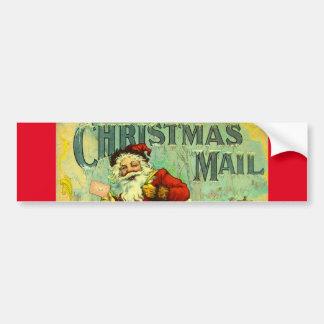 Christmas Mail Santa Claus Vintage Gift Card Art Bumper Sticker