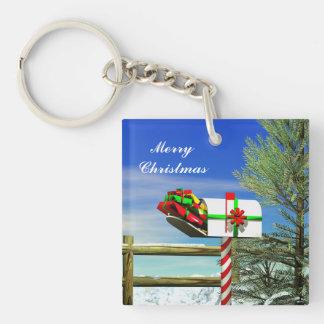 Christmas Mailbox Acrylic Key Chains