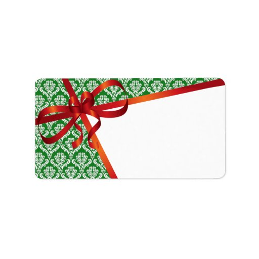 Christmas mailing labels address label zazzle