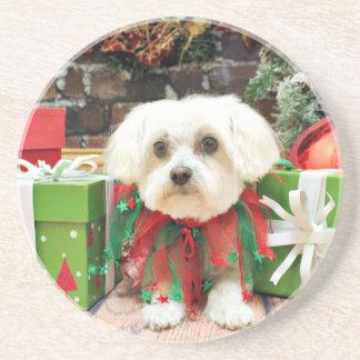 Christmas - Maltese - Annie Coaster