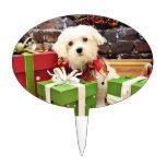 Christmas - Maltese - Flash Cake Pick
