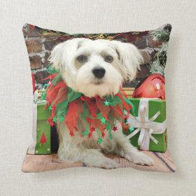 Christmas - Maltese - Oscar Pillow
