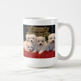 Christmas Maltese Puppies Coffee Mug