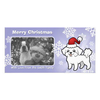 Christmas Maltese (puppy cut) Card