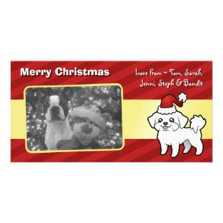 Christmas Maltese (puppy cut) Card