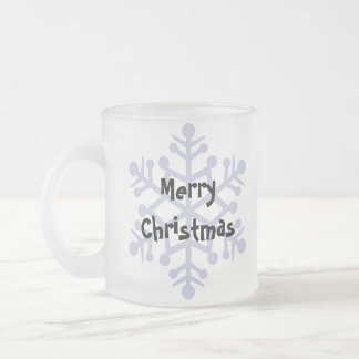 Christmas Maltese (puppy cut) Frosted Glass Coffee Mug