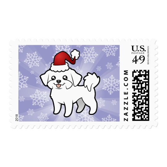 Christmas Maltese (puppy cut) Postage