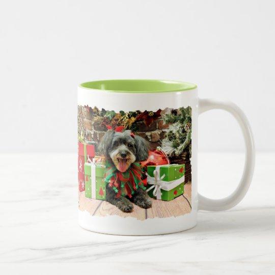 Christmas - Maltese X - Zoey Two-Tone Coffee Mug
