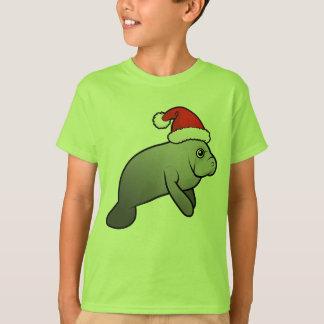 Christmas Manatee Santa T-Shirt