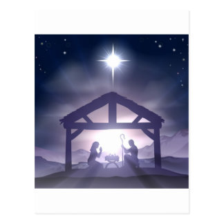 Christmas Manger Nativity Scene Postcards