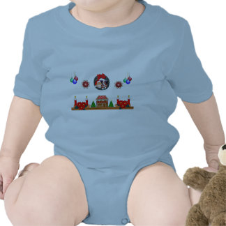 Christmas mantle infant onsie t-shirts