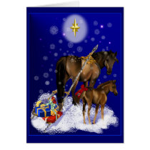 Christmas Mare and Baby Card