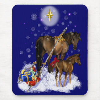 Christmas Mare and Baby Mousepad
