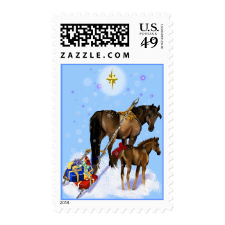 Christmas Mare and Baby Postage