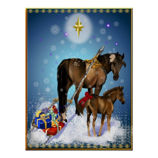 Christmas Mare and Cold Poster