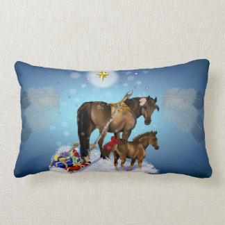 Christmas Mare and Colt Lumbar Pillow