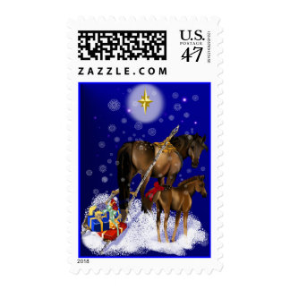 Christmas Mare and Colt Postage