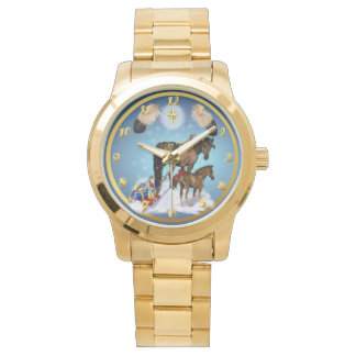 Christmas Mare and Colt Wrist Watches