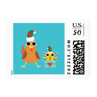 Christmas Maria & Bandit the Chickens Postage