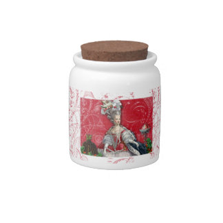 Christmas Marie Antoinette Kitchen Canister Candy Dishes