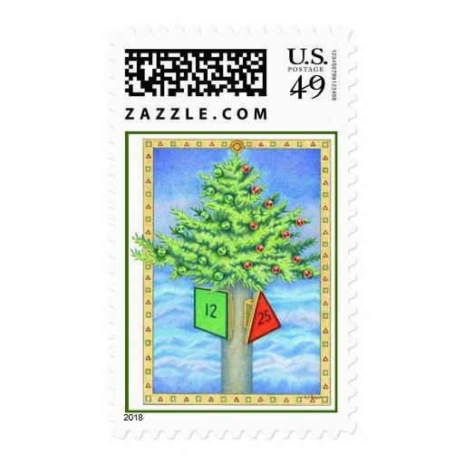 Christmas Marker Postage Stamp