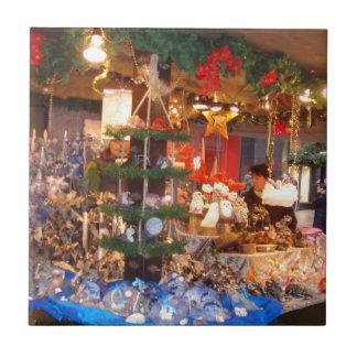 Christmas Market in Hamburg Ceramic Tile