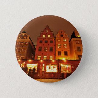 Christmas market in Stockholm, Sweden Button