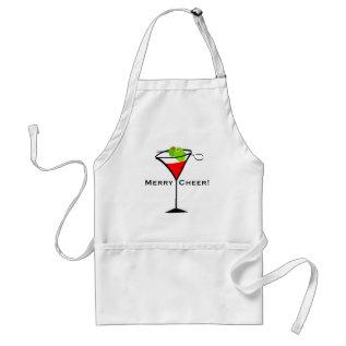 Christmas Martini Adult Apron at Zazzle