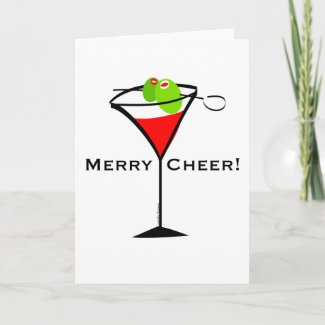 Christmas Martini Greeting Cards