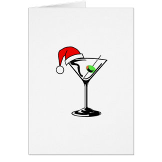Christmas Martini Greeting Card