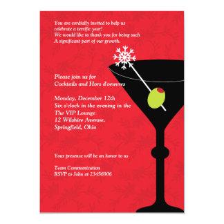Christmas Martini & Merriment - Company Party 5x7 Paper Invitation Card