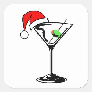 Christmas Martini Square Sticker