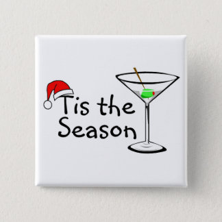 Christmas Martini Tis The Season Button